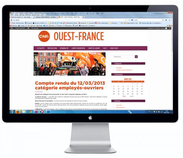 Site internet pour le syndicat CFDT Ouest-France.