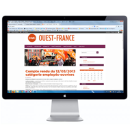 Site internet CFDT Ouest-France